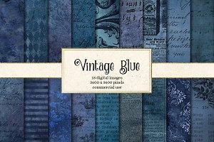 Vintage Blue Textures
