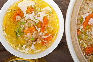 Syrian barley broth soup Aleppo style called talbina 061.jpg