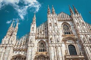 Milan Cathedral facade, Italy