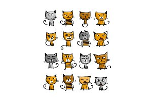 Cats collection, sketch for your