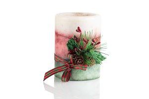 Seasonal Christmas candle