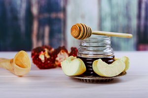 rosh hashanah jewesh holiday concept