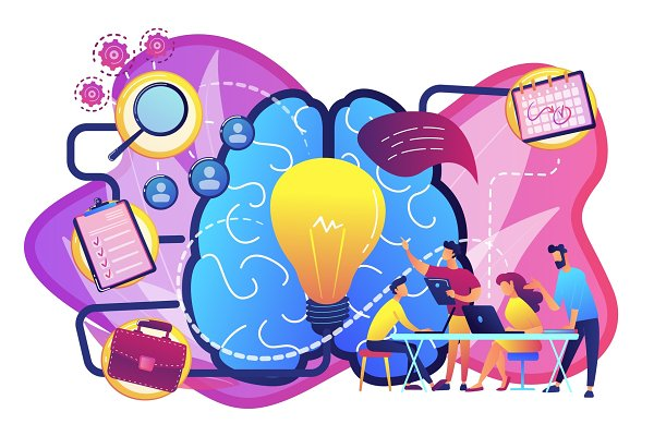 Project management concept vector
