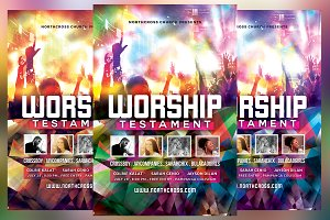 Worship Testament Church Flyer