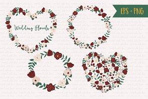 Wedding Florals - Burgundy and Beige