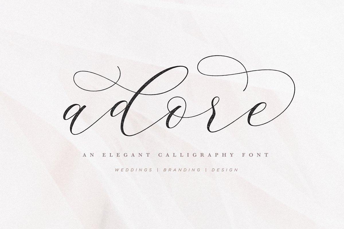 Adore Calligraphy Font ~ Script Fonts ~ Creative Market