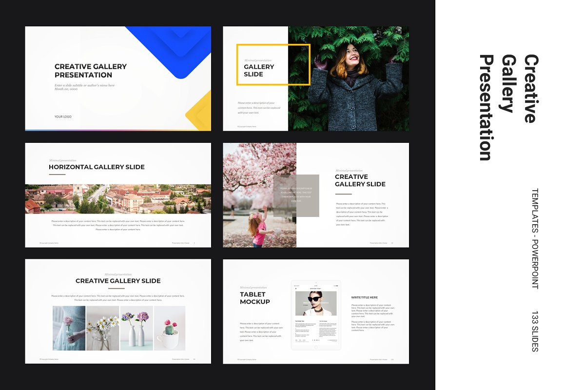 Creative Gallery Powerpoint Template Powerpoint Templates