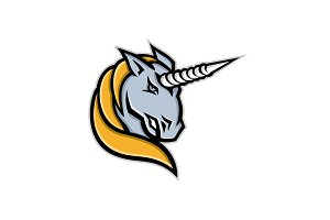 Unicorn Head Mascot