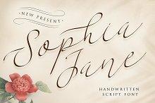 Sophia Jane Script by  in Script Fonts