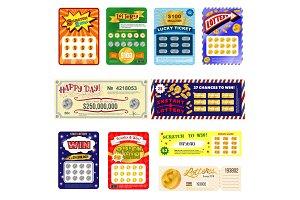 Lottery ticket vector lucky bingo