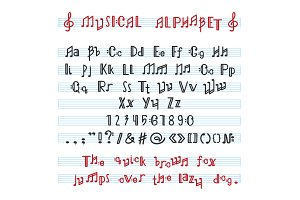Alphabet ABC vector musical