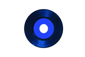 A blue vinyl record
