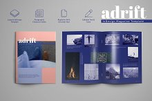 Adrift - Magazine Template by  in Magazines