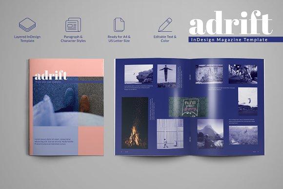 Magazine Templates | Adrift Magazine Template Magazine Templates Creative Market