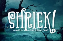Shriek! Font by  in Display Fonts