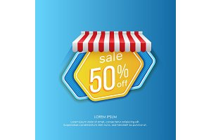 Sale sticker vector design