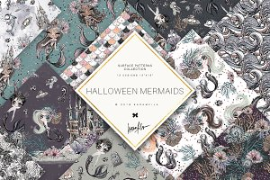 Halloween Mermaid Patterns