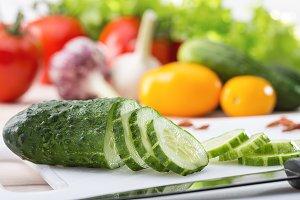 Set of summer vegetables.