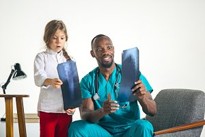 Young african male pediatrician