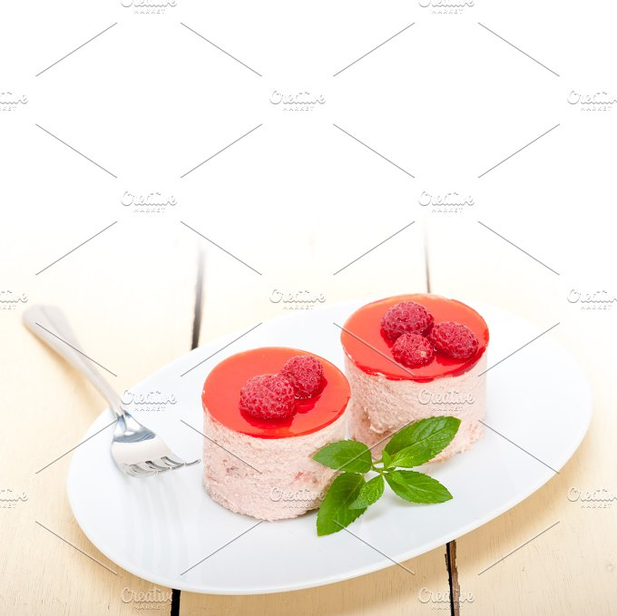 raspberry mousse dessert cake 002.jpg - Food & Drink