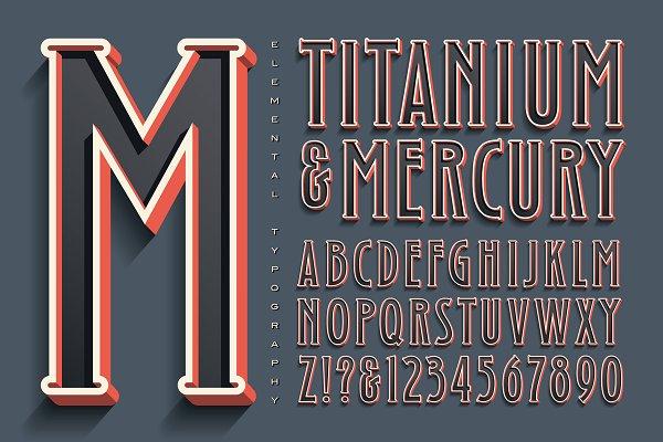 Lettering Design: Titanium & Mercury