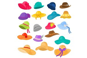 Woman hat vector fashion clothing