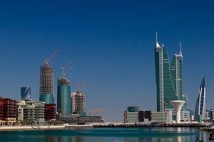 panorama cityscape wiew to Manama ci