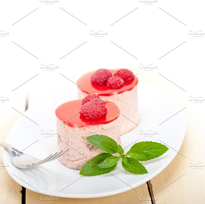 raspberry mousse dessert cake 007.jpg - Food & Drink