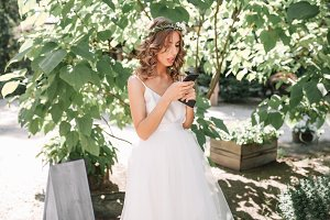Wedding. Attractive bride with beaut