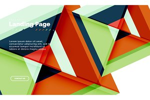 Square shape geometric abstract
