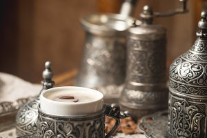 Turkish black coffee