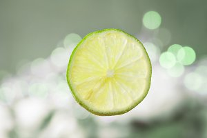 Fruit lime slices.