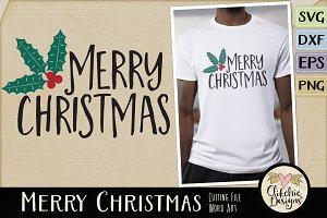 Merry Christmas Vector & SVG File