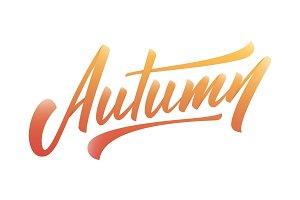 Autumn. Modern hand lettering