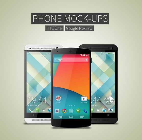 android phone mockups product mockups - Mockups For Android