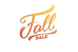 Fall sale. Hand lettering