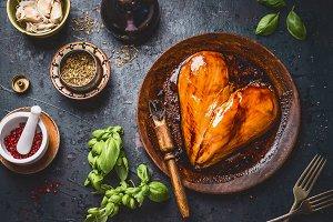 Chicken breast cooking preparation