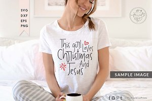 This girl loves Christmas and Jesus