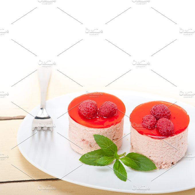 raspberry mousse dessert cake 033.jpg - Food & Drink