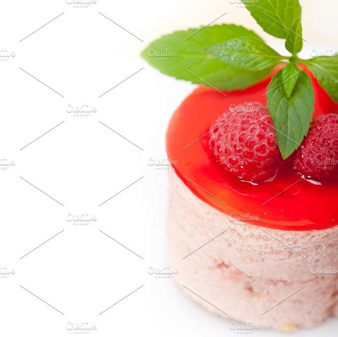 raspberry mousse dessert cake 038.jpg - Food & Drink