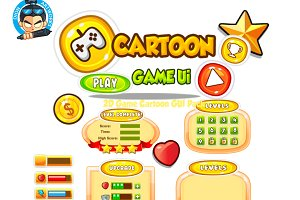Cartoon Game Ui Set 07