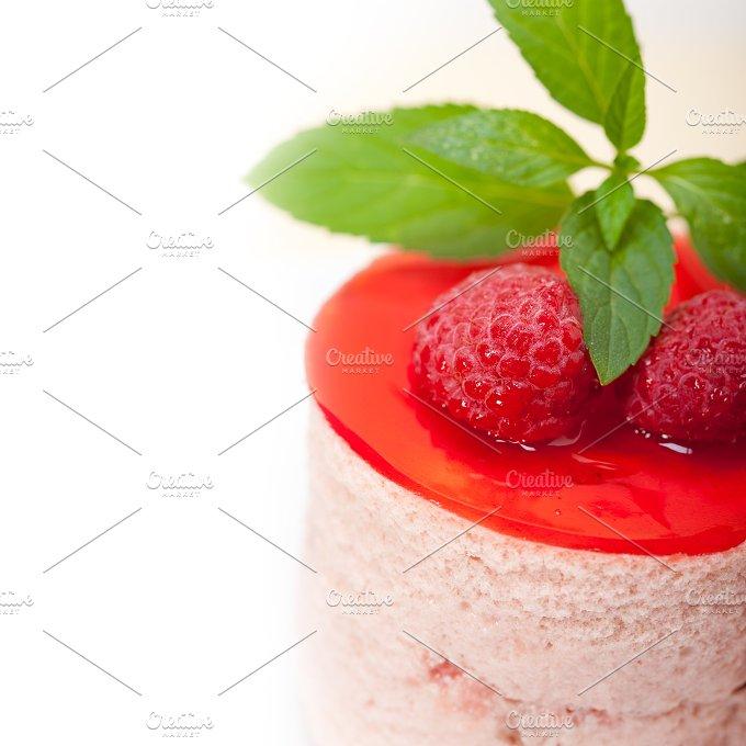 raspberry mousse dessert cake 040.jpg - Food & Drink
