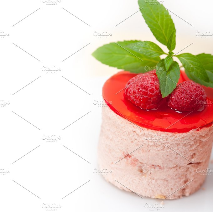 raspberry mousse dessert cake 041.jpg - Food & Drink