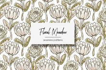 Floral Meadow Seamless Patterns by  in Patterns