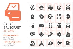 Garage & Auto Part Filled Icon
