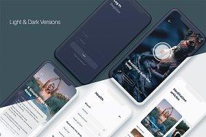 Namaste - Meditation Mobile App Sket