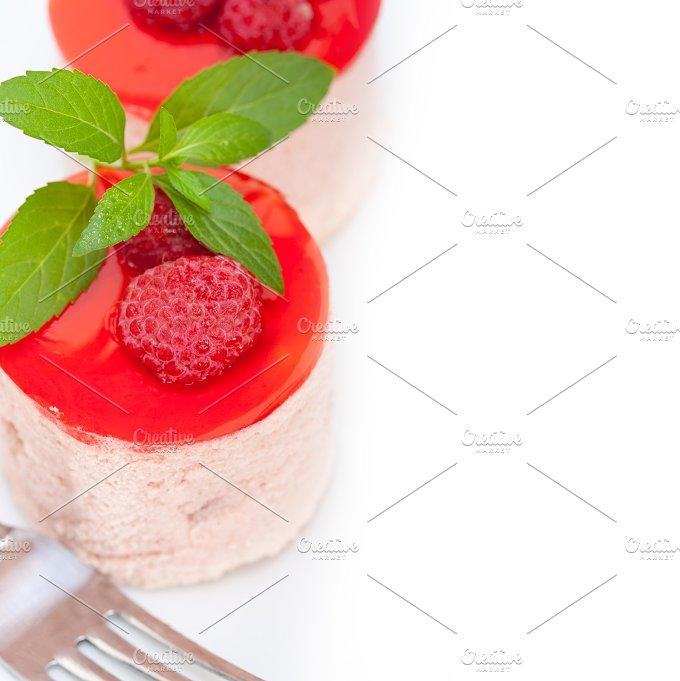 raspberry mousse dessert cake 050.jpg - Food & Drink