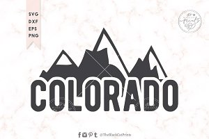 Colorado SVG DXF EPS PNG