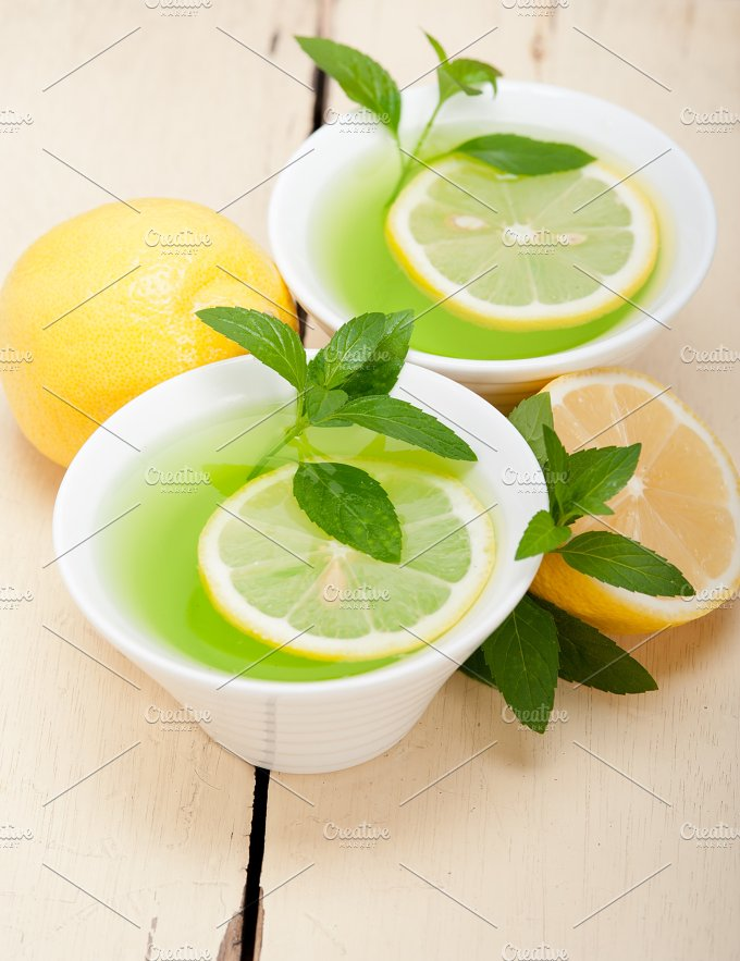 mint tea infusion withl emon 010.jpg - Food & Drink