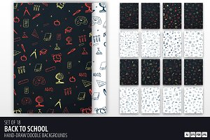 Back to School doodle backgrounds